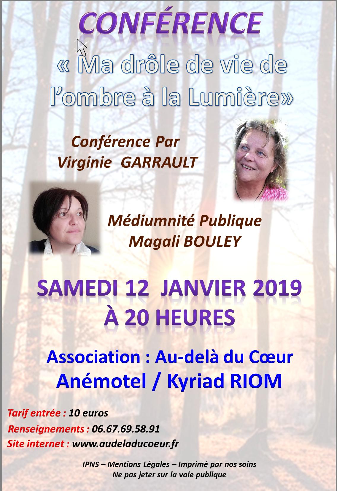Conference du 12 janvier 2019 V garrault et M Bouley